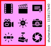 simple icon set of camera... | Shutterstock .eps vector #1138117640