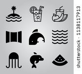 simple icon set of tropical... | Shutterstock .eps vector #1138117913