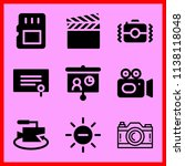 simple icon set of camera... | Shutterstock .eps vector #1138118048