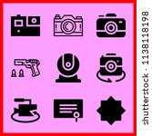 simple icon set of camera... | Shutterstock .eps vector #1138118198