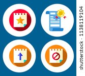 simple 4 icon set of note... | Shutterstock .eps vector #1138119104