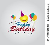 happy birthday vector template... | Shutterstock .eps vector #1138123133