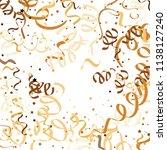 golden star ribbon confetti....   Shutterstock .eps vector #1138127240