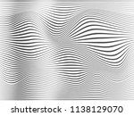 warped lines background.wavy... | Shutterstock . vector #1138129070
