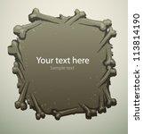 scary banner 06  vector | Shutterstock .eps vector #113814190