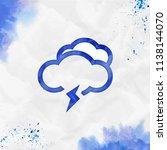 clouds flash alt watercolor... | Shutterstock .eps vector #1138144070