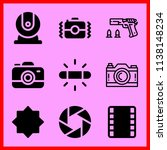 simple icon set of camera... | Shutterstock .eps vector #1138148234