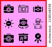 simple icon set of camera... | Shutterstock .eps vector #1138148558