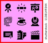 simple icon set of camera... | Shutterstock .eps vector #1138149344
