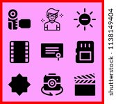 simple icon set of camera... | Shutterstock .eps vector #1138149404