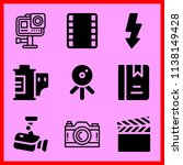 simple icon set of camera... | Shutterstock .eps vector #1138149428