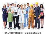 group of industrial workers.... | Shutterstock . vector #113816176