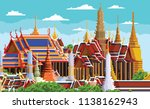Thai Temple Pixel Art Thailand...