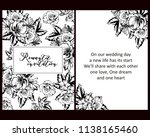 invitation greeting card with... | Shutterstock . vector #1138165460