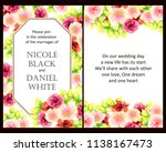 romantic wedding invitation... | Shutterstock . vector #1138167473
