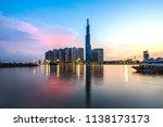 landmark 81 is a super tall... | Shutterstock . vector #1138173173