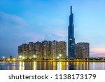 landmark 81 is a super tall... | Shutterstock . vector #1138173179