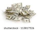 background with money american... | Shutterstock . vector #113817526