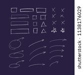 set of hand drawn   arrows and... | Shutterstock .eps vector #1138176029