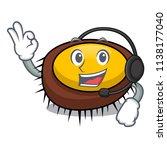 with headphone sea urchin... | Shutterstock .eps vector #1138177040