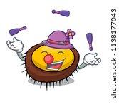 juggling sea urchin mascot... | Shutterstock .eps vector #1138177043