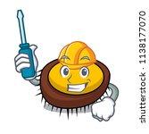 automotive sea urchin mascot... | Shutterstock .eps vector #1138177070
