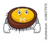 silent sea urchin mascot cartoon | Shutterstock .eps vector #1138177073