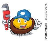 plumber sea urchin mascot... | Shutterstock .eps vector #1138177076