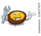 mechanic sea urchin mascot... | Shutterstock .eps vector #1138177079
