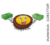 with money bag sea urchin... | Shutterstock .eps vector #1138177109