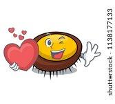with heart sea urchin mascot... | Shutterstock .eps vector #1138177133