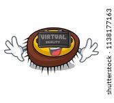 virtual reality sea urchin... | Shutterstock .eps vector #1138177163