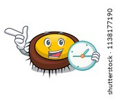 with clock sea urchin character ... | Shutterstock .eps vector #1138177190