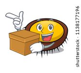 with box sea urchin character... | Shutterstock .eps vector #1138177196