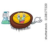 professor sea urchin character... | Shutterstock .eps vector #1138177220