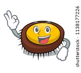 okay sea urchin character... | Shutterstock .eps vector #1138177226