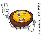 two finger sea urchin character ... | Shutterstock .eps vector #1138177253