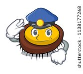 police sea urchin character... | Shutterstock .eps vector #1138177268