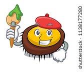 artist sea urchin character... | Shutterstock .eps vector #1138177280