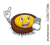 with phone sea urchin character ... | Shutterstock .eps vector #1138177286