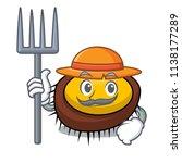 farmer sea urchin character... | Shutterstock .eps vector #1138177289