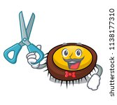 barber sea urchin character... | Shutterstock .eps vector #1138177310