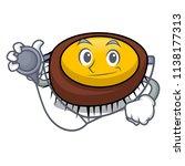 doctor sea urchin character... | Shutterstock .eps vector #1138177313