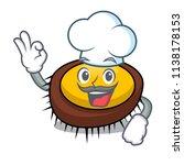 chef sea urchin character... | Shutterstock .eps vector #1138178153