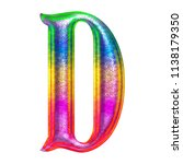 fun colorful metallic letter d... | Shutterstock . vector #1138179350