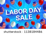 labor day sale poster flyer... | Shutterstock .eps vector #1138184486