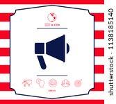 speaker  bullhorn icon | Shutterstock .eps vector #1138185140