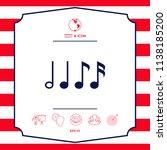 symbol of music  notes.... | Shutterstock .eps vector #1138185200