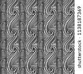 maori tribal pattern vector... | Shutterstock .eps vector #1138187369