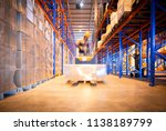 Warehouse Forklift Working In...